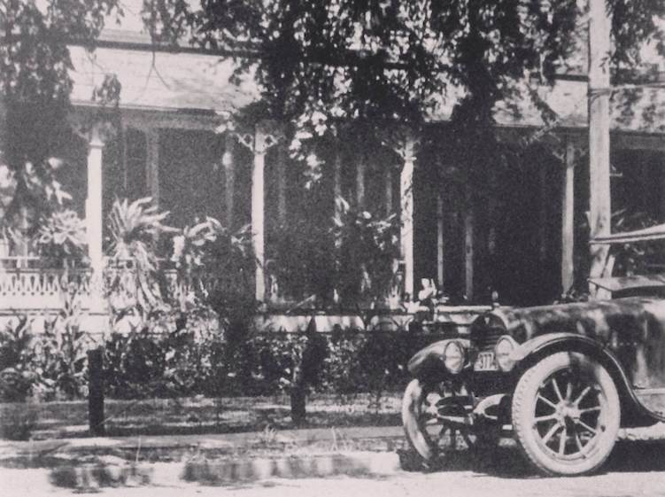 An early 20th century view of the stately residence taken from North Vienna Street in Ruston, Louisiana.