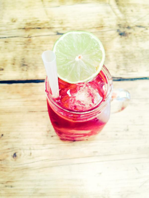 Our 'Super Berry' iced tea at MUD