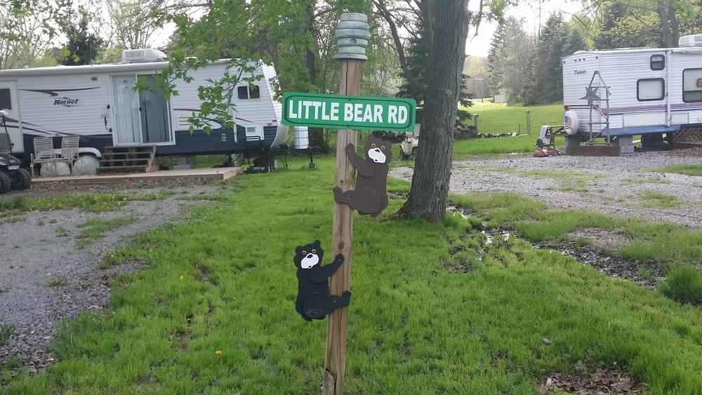 Campsite Road Signs