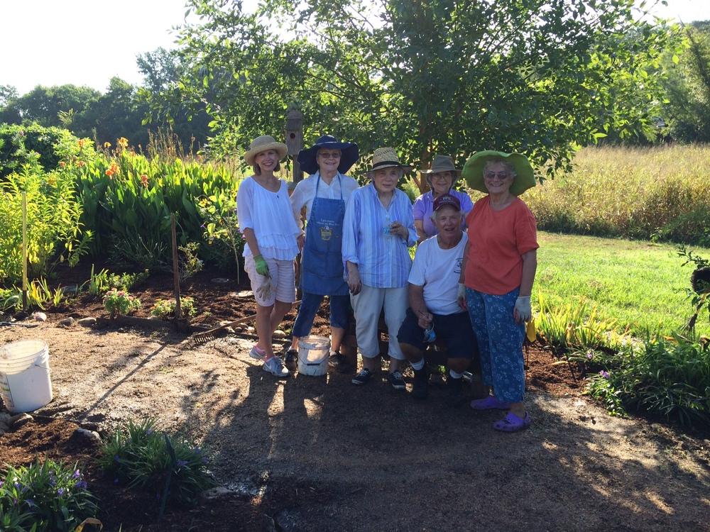 Dedicated butterfly garden workers! Debbie Urquhart, Twila Tate, Joy Kenjura, Scottie Davis, Charles Sander & Carolyn Sander