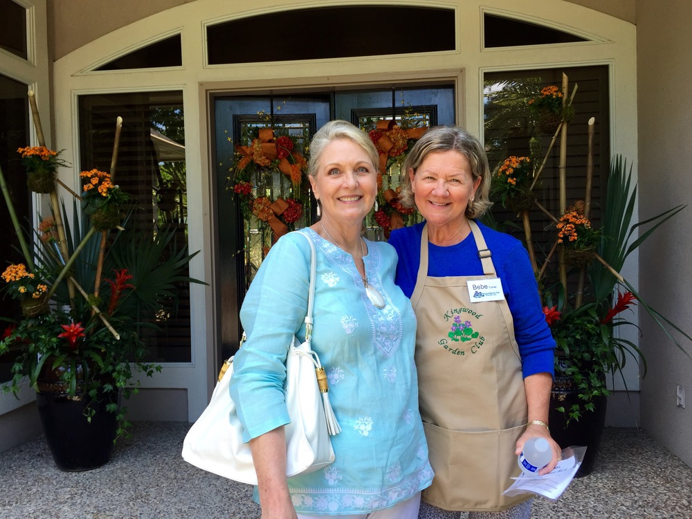 Sandy Batt, and Bebe Turner of Kingwood Garden Club.