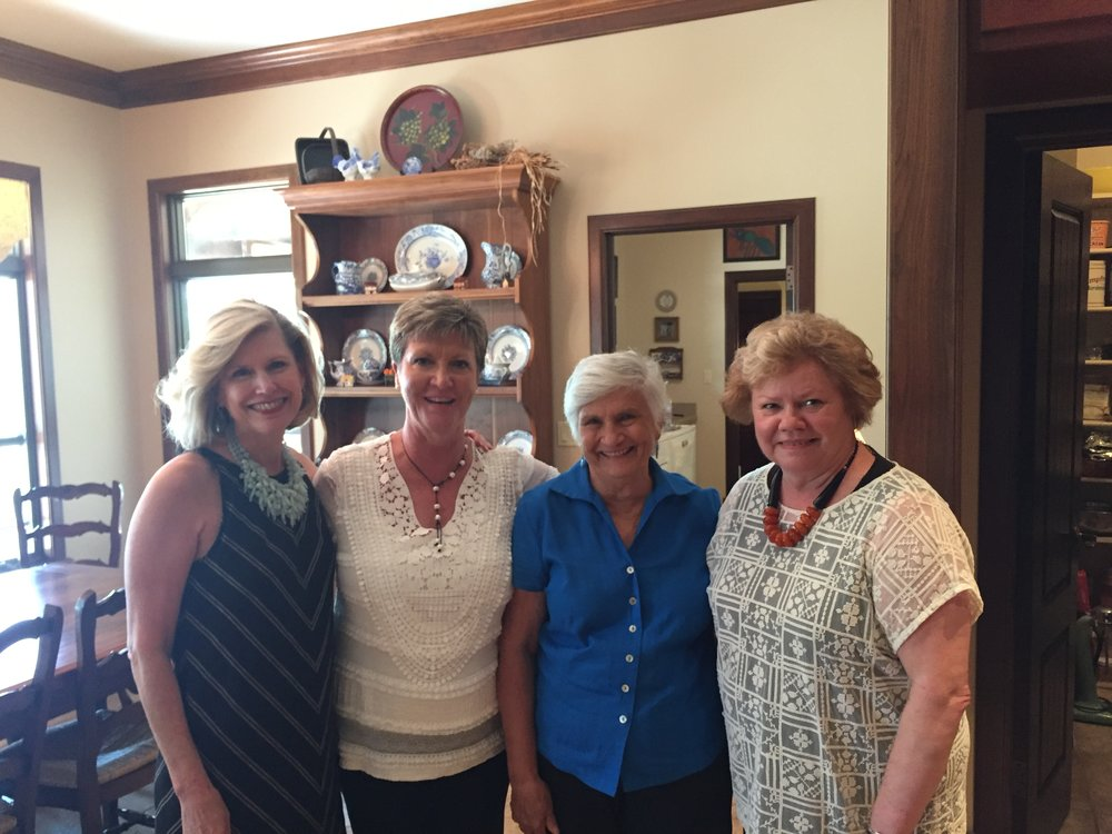 Co-Hostesses - Debbie Urquhart, Debbie Meschwitz, Carolyn Sander and Hostess, Judy Pendergrass.