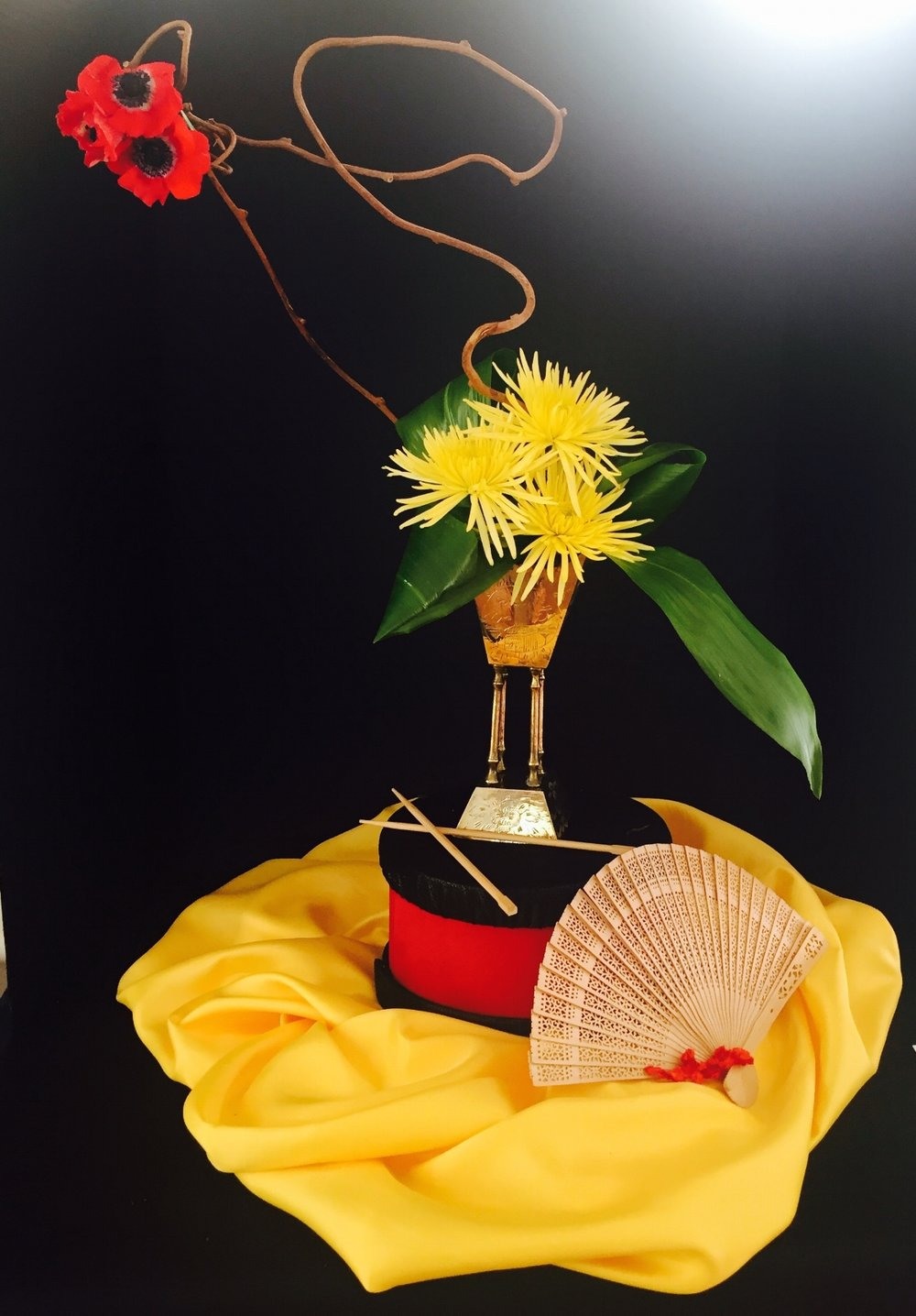"Sandy Batt won the Designer's Choice Award. This design was based on her interpretation of the song, ""Flower Drum Song""."