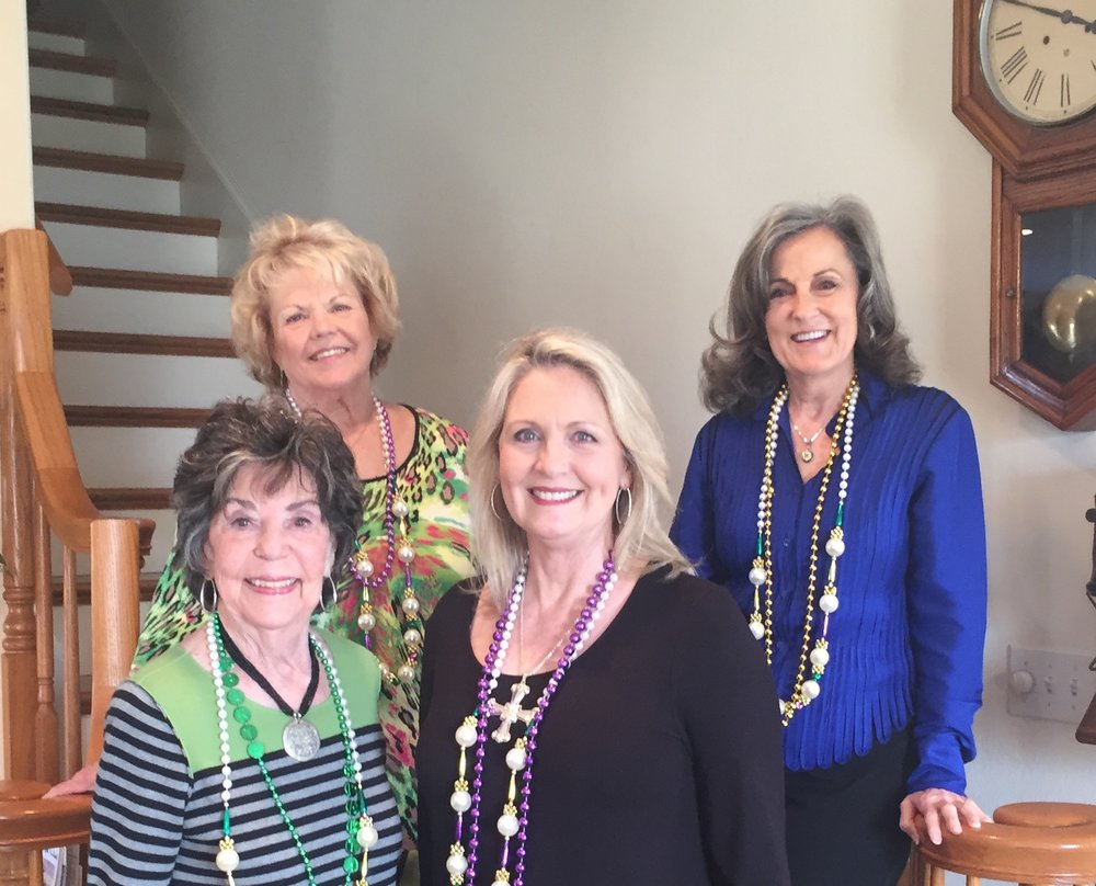 January Hostesses...Gail Pinto, Jody Clough, Sandy Batt, and Rita Meaux. -