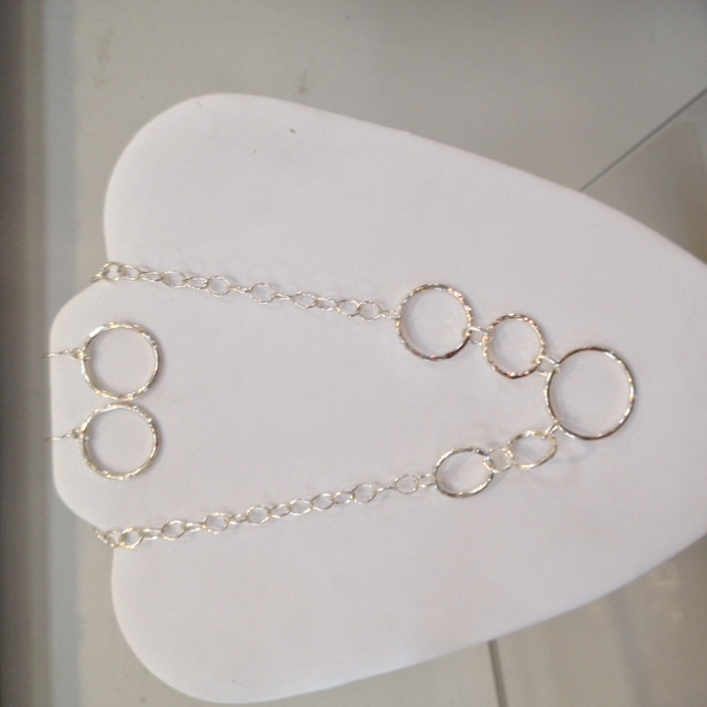 """Mod Circles""  Sterling Silver"