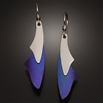 Sterling and niobium earrings