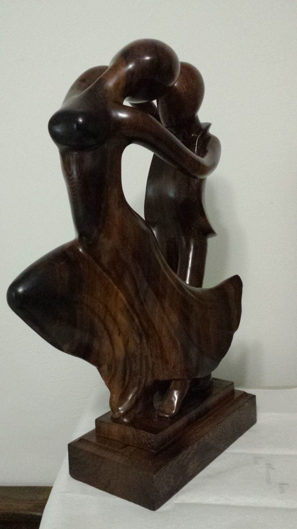 """A La Cadence"" ebony sculpture"