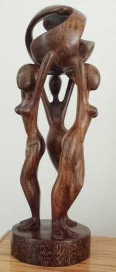 """Harmony"" ebony sculpture"