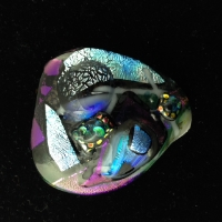 Fused glass pin