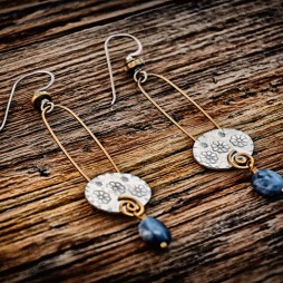 """Forget Me Not"" earrings"