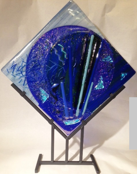 """Moondance"" kiln formed glass by Kara DeBacker"