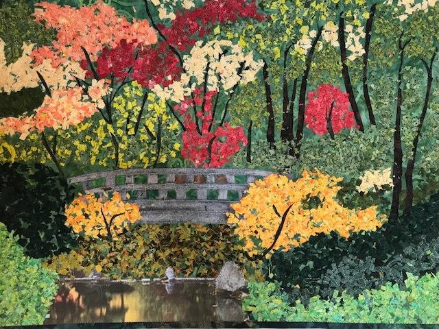 """""""Zen Garden"""" fiber art by Roberta Ranney"""