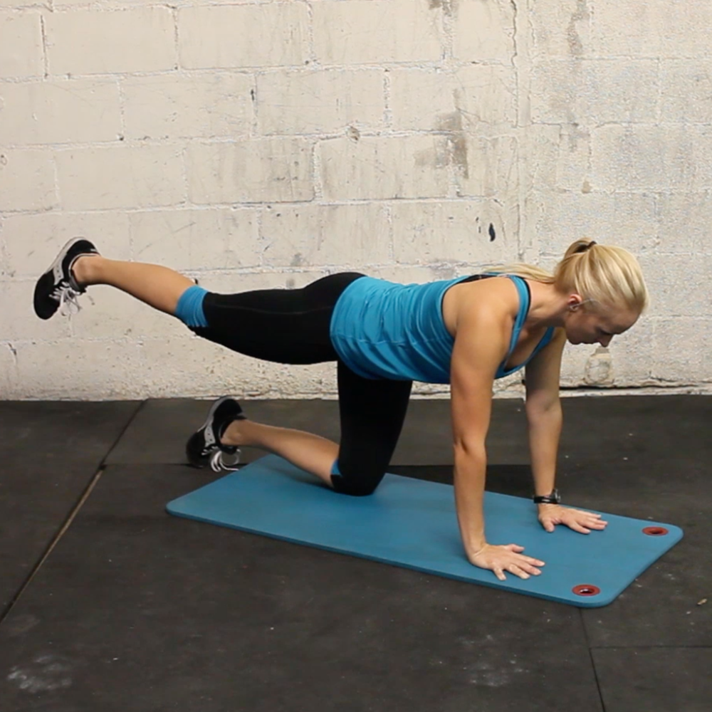 glute series; abduction + extension