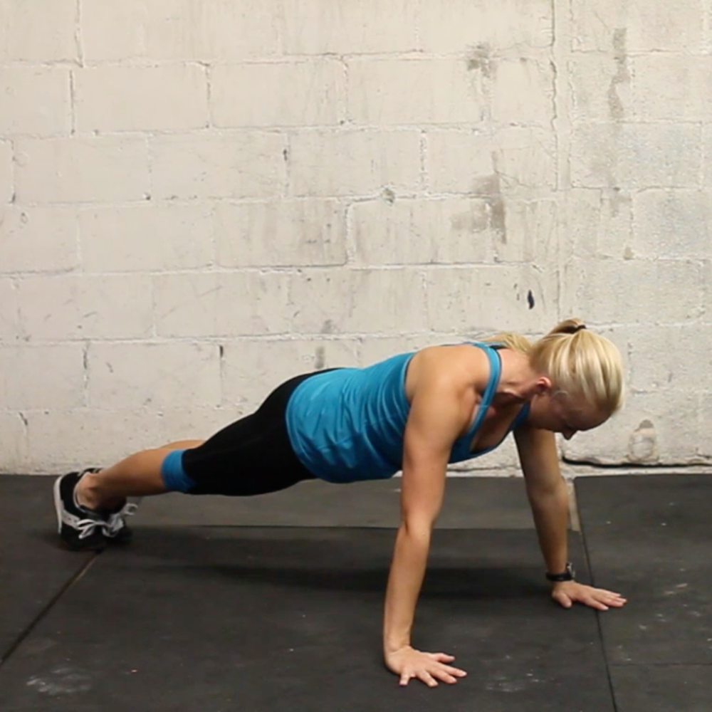Pushups and pushup negatives