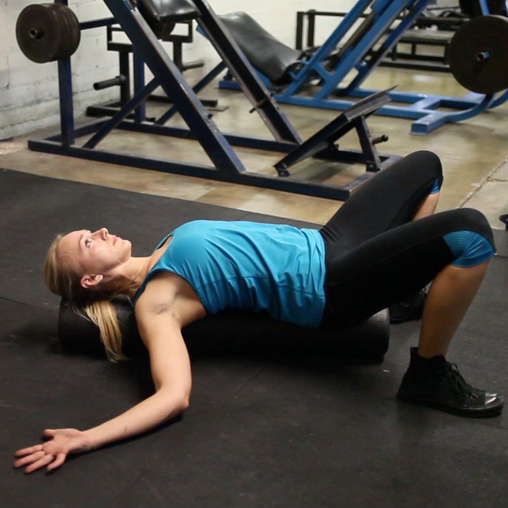 chest stretch on foam roller