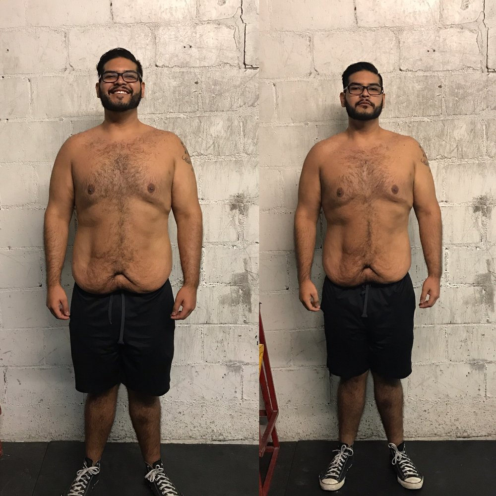 L-R, Nov. 2, 2016, Dec. 6, 2016. 15 pounds weight loss.