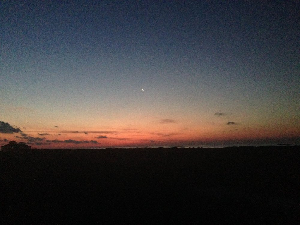 Sunrise at Grand Isle with the family.
