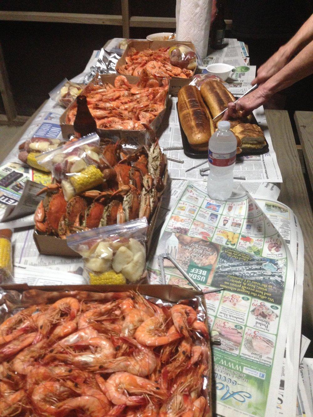 Crawfish and shrimp. Delicious!