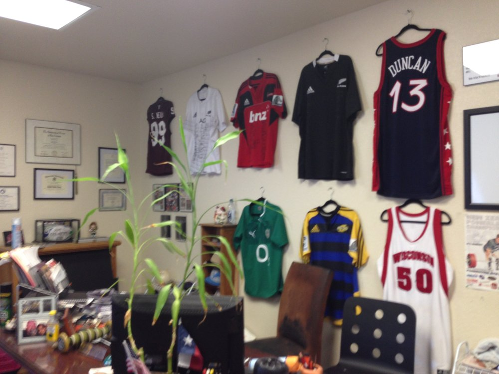 Ed Cosner's office at  PowerSport Strength and Conditioning . He is a world class trainer who has worked with the best of the best pro athletes.