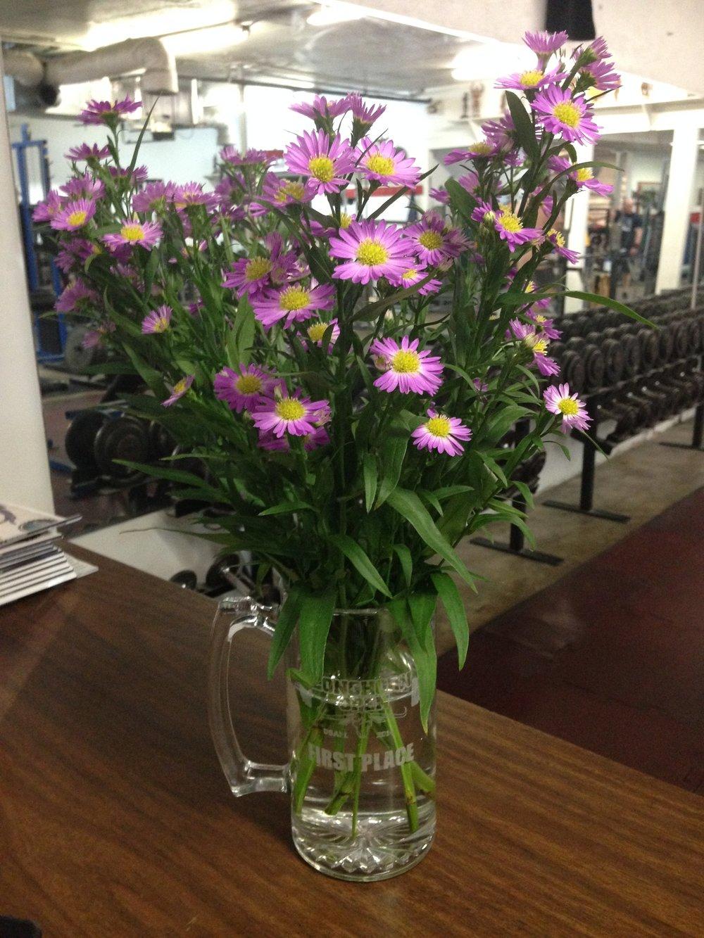 Birthday flowers from my sweet friend Ricardo.