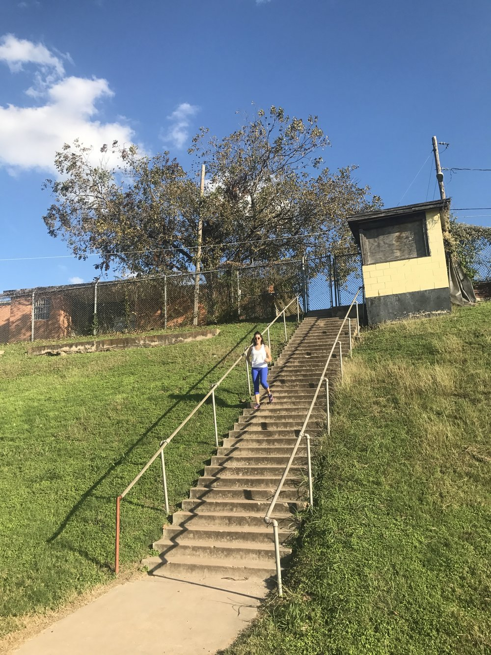 Clair gets those stairs!!