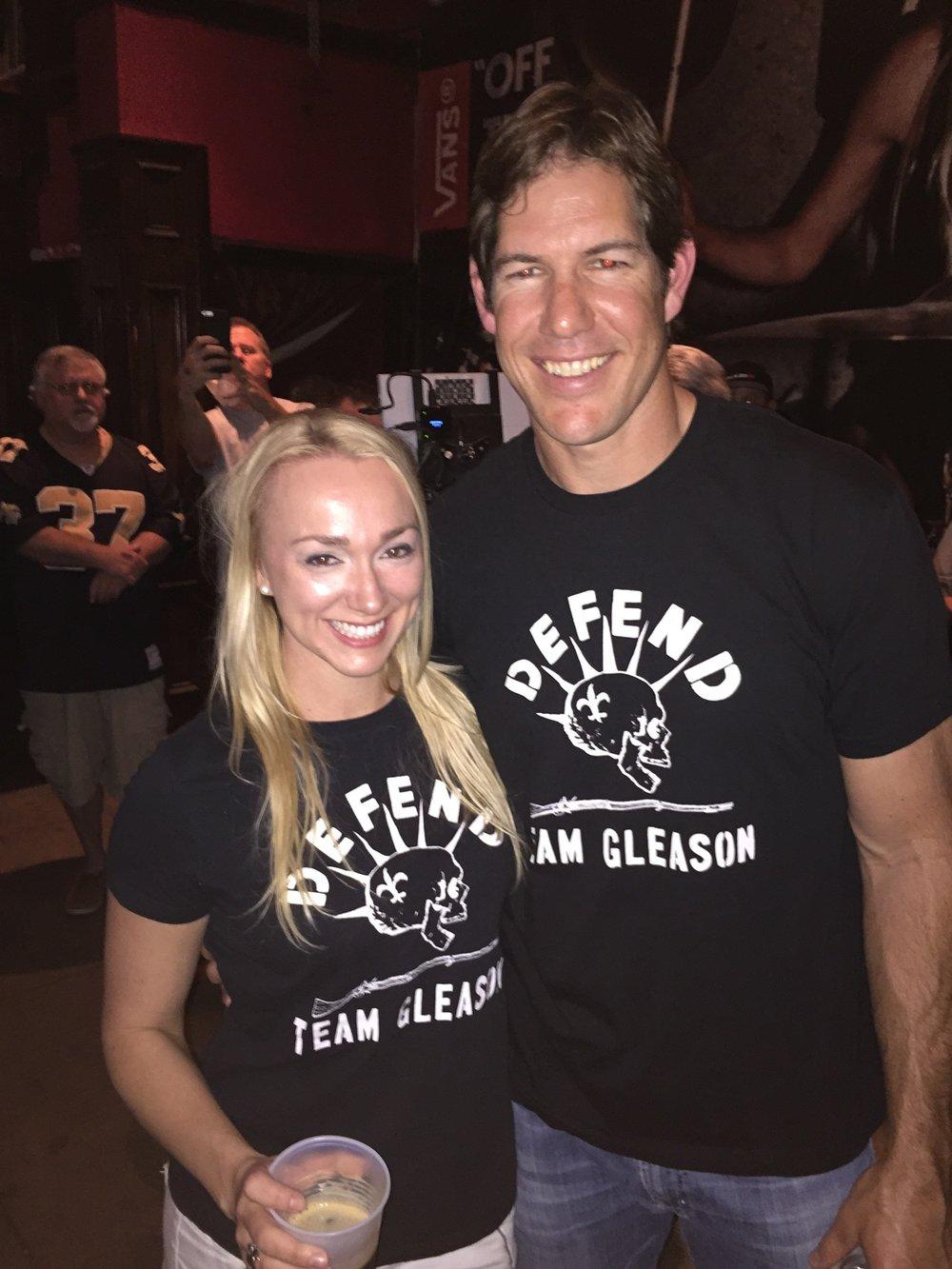 Starstruck with Scott Fujita at the premier of  Gleason Movie . Also #shirttwins.