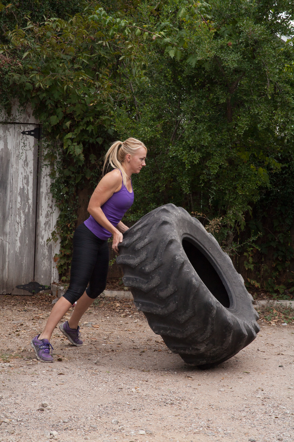 Tire flipping. Photo by  Becca Ewing