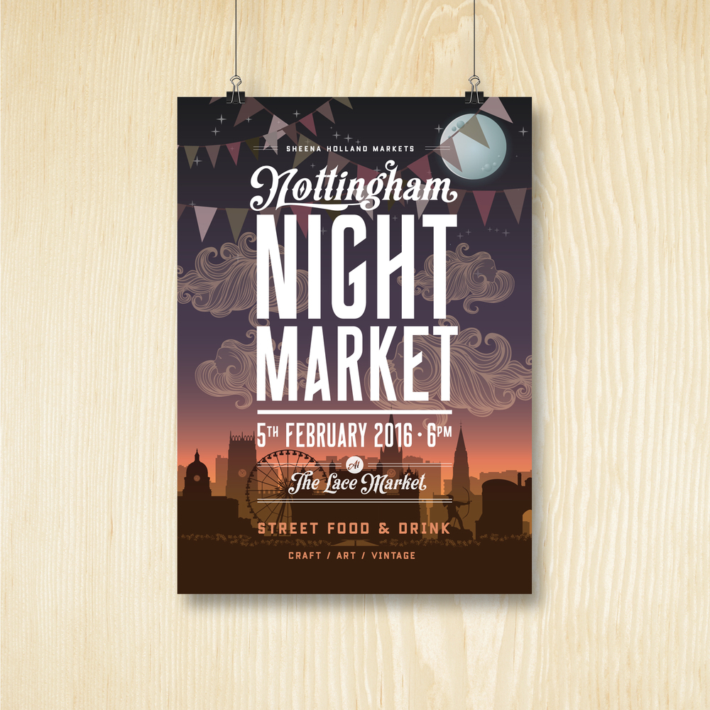 Poster design nottingham - Sheena Holland Markets