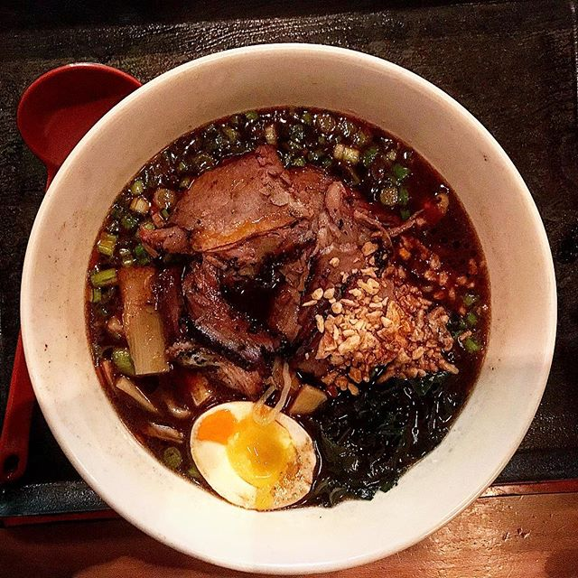 Tried some crazy #brisket #ramen from @ramensanchi
