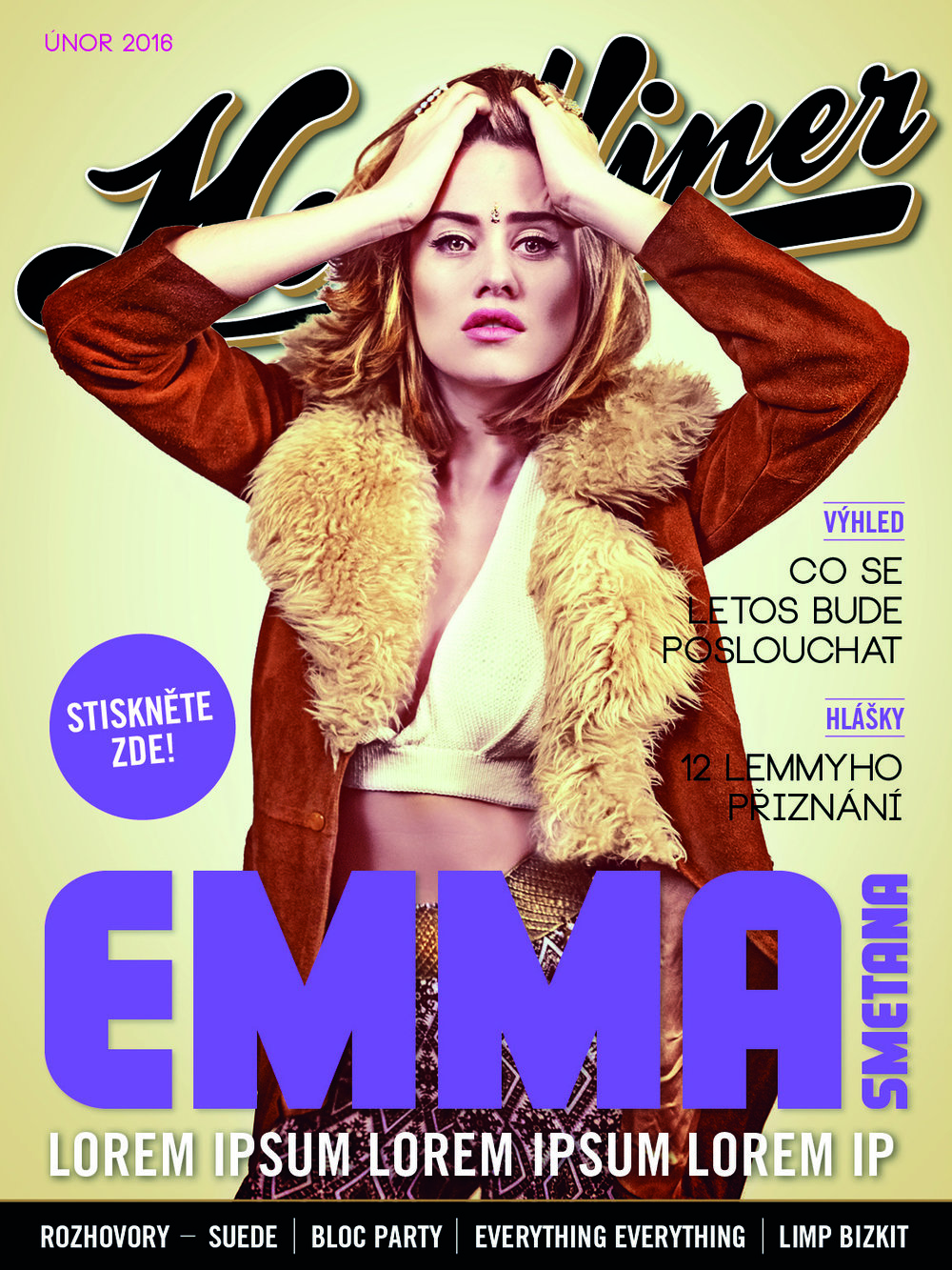 Emma Smetana - Headliner Magazine Cover