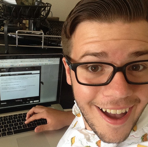 Taking a quick selfie break from writing this blog post.