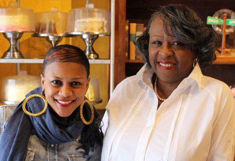 Mama J's Velma Johnson (pictured right) with general manager Kelli Lemon