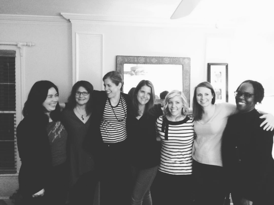 Abide Yoga's 200 Hour Yoga Teacher Training Spring 2016 grads (and trainers!). Each training is small and intimate, with a max size of 12 participants.
