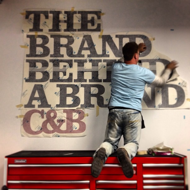 Adding some bold artwork to our new office. #behindourbrand