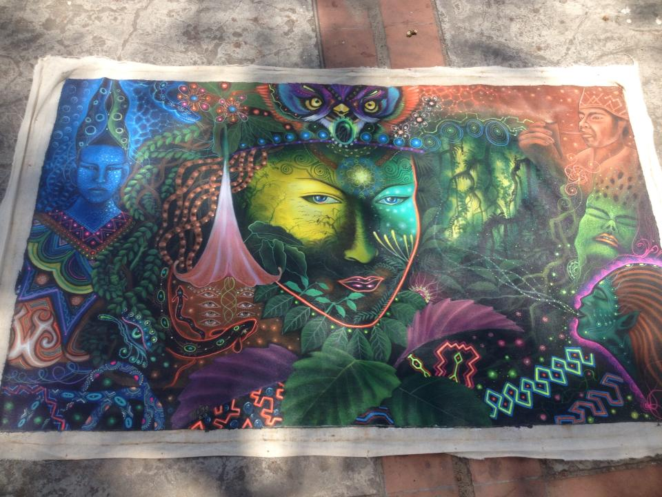 Visionary artwork from an ayahuasca ceremony