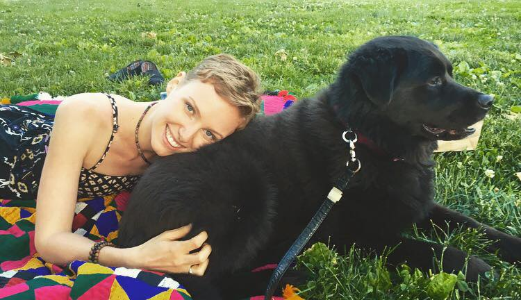 The photo that inspired today's share.. Lounging in Central Park with Kennedy & his human, the fabulous  Sarah Mushtaq