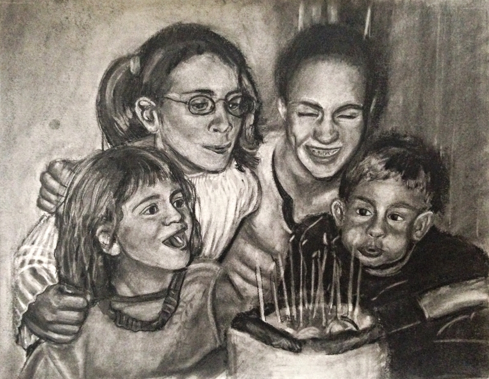 Family Portrait (Charcoal), 2015