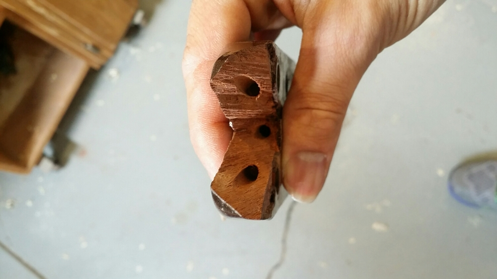 Three holes for carbon fiber rod