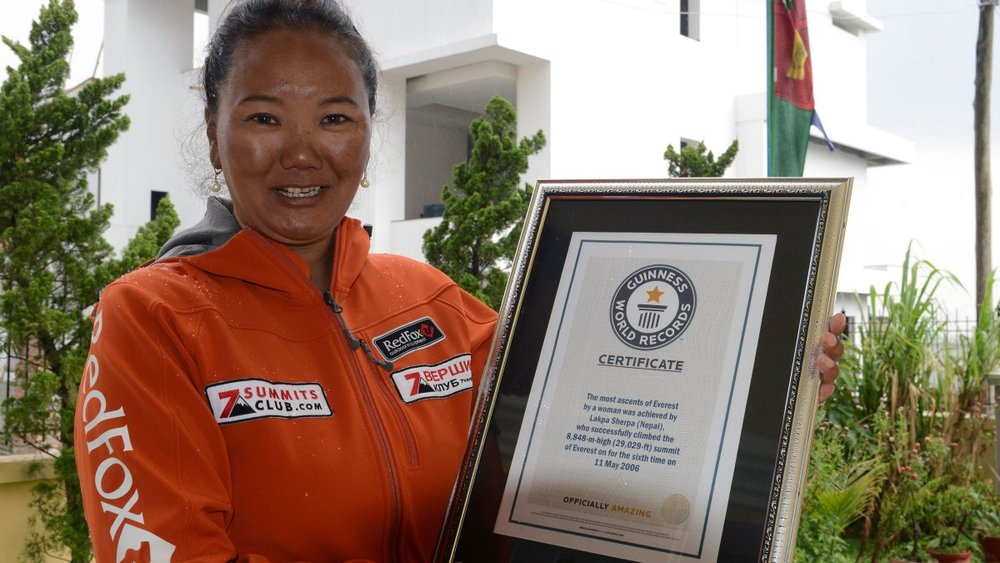 Lhakpa Sherpa Breaks Her Own Everest Record