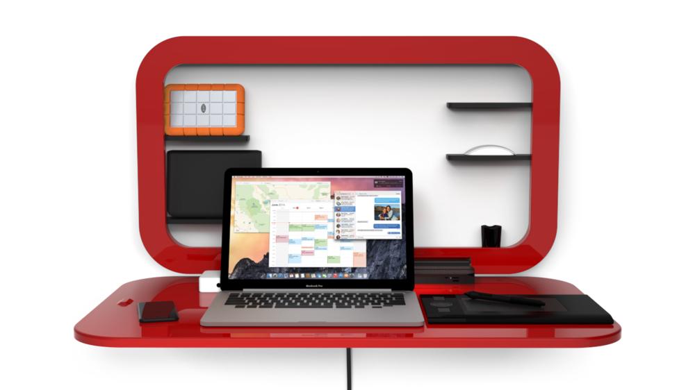 Wall Mounted Standing Desk | Cymun Designs