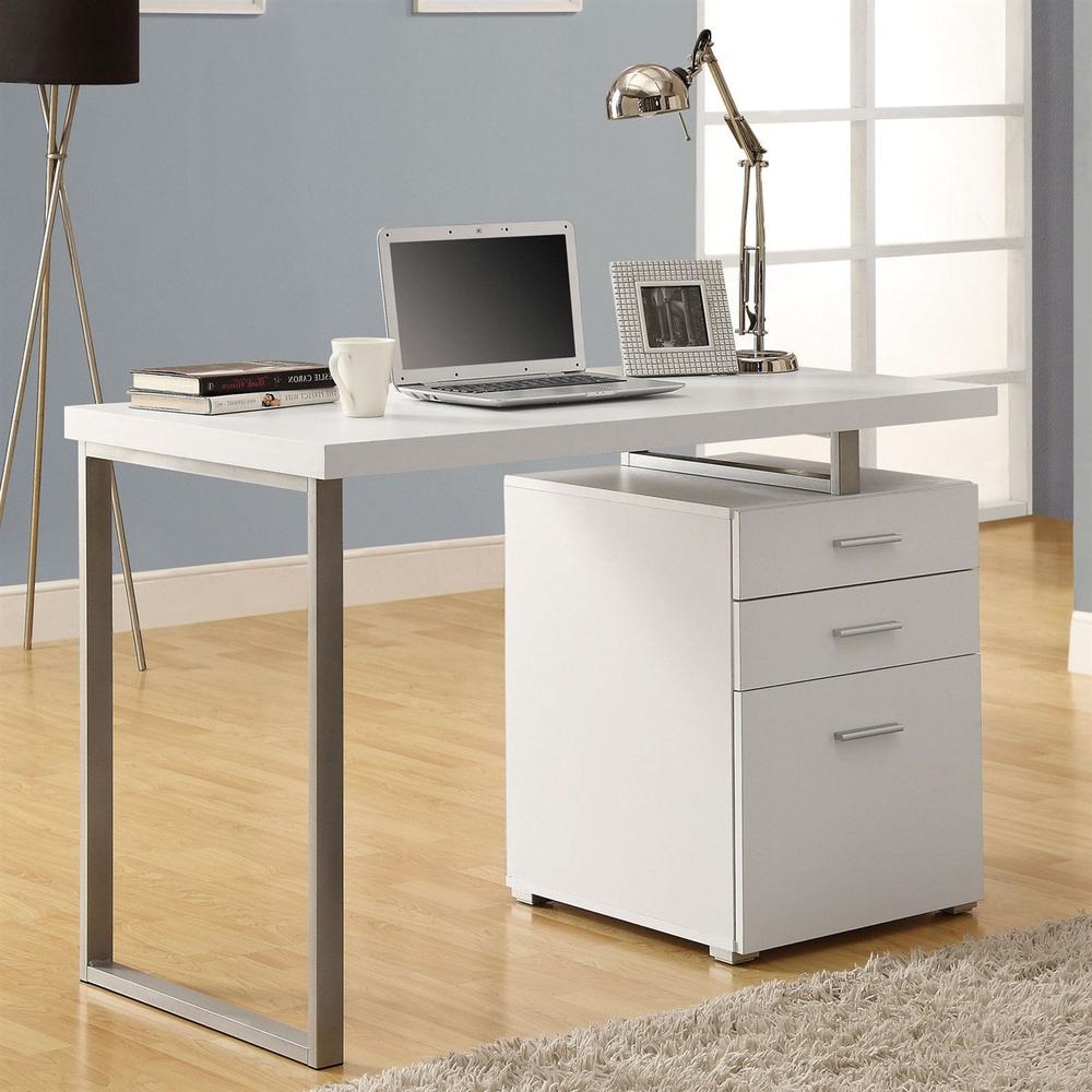 Modern Office Desk (White)