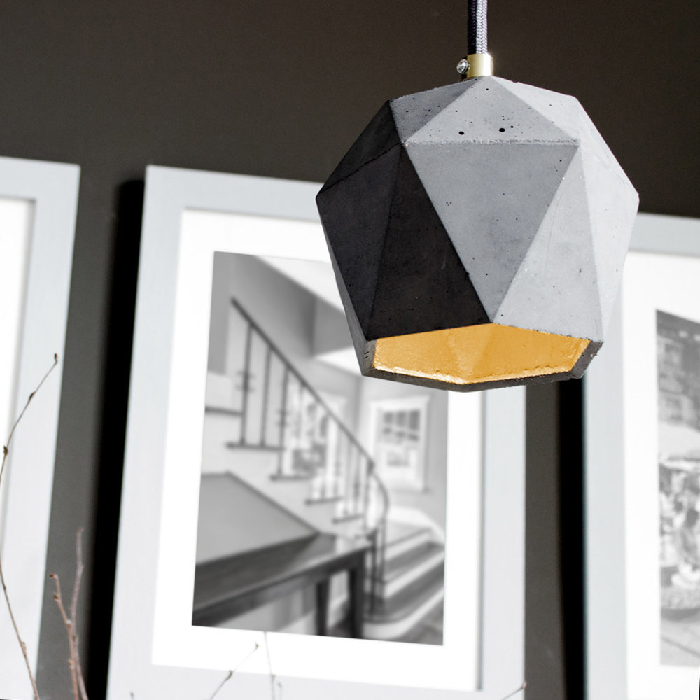 Spacecraft Concrete Industrial Pendant Lamp