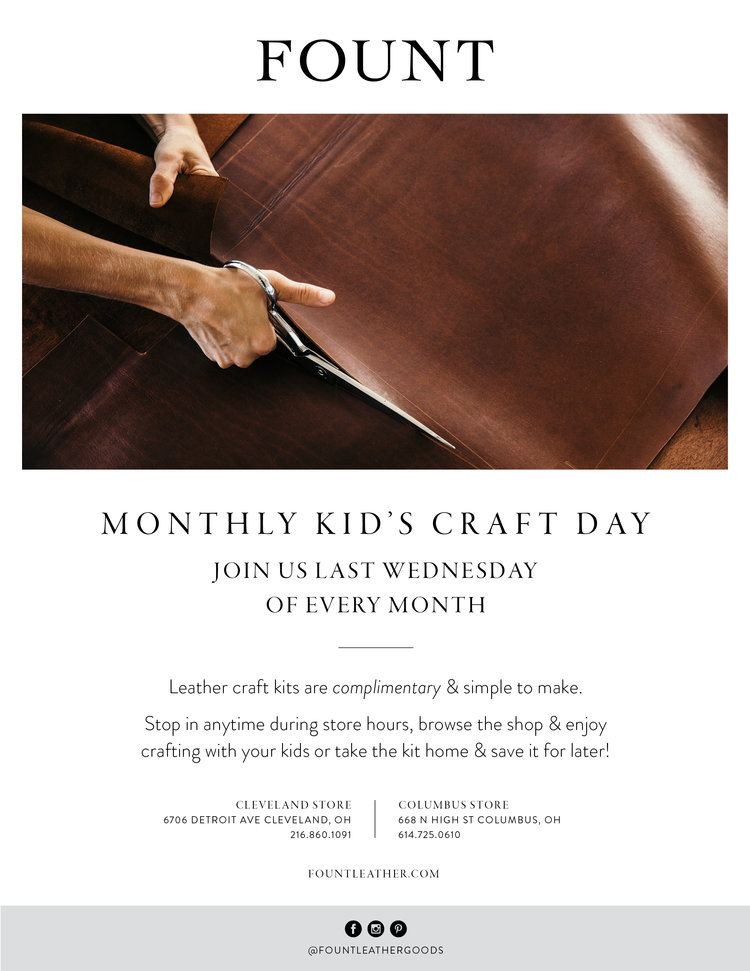 Monthly Kids Craft Day Fount