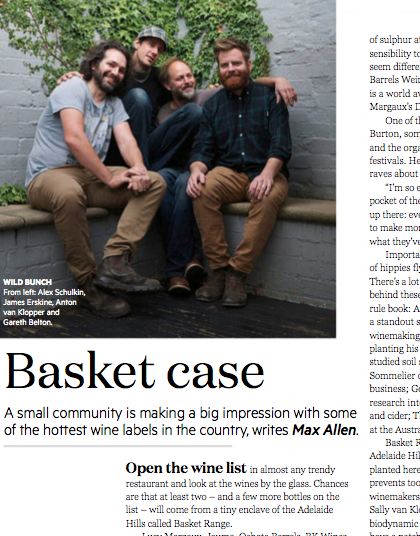 The Basket Range crew at Gourmet Traveller August 2015