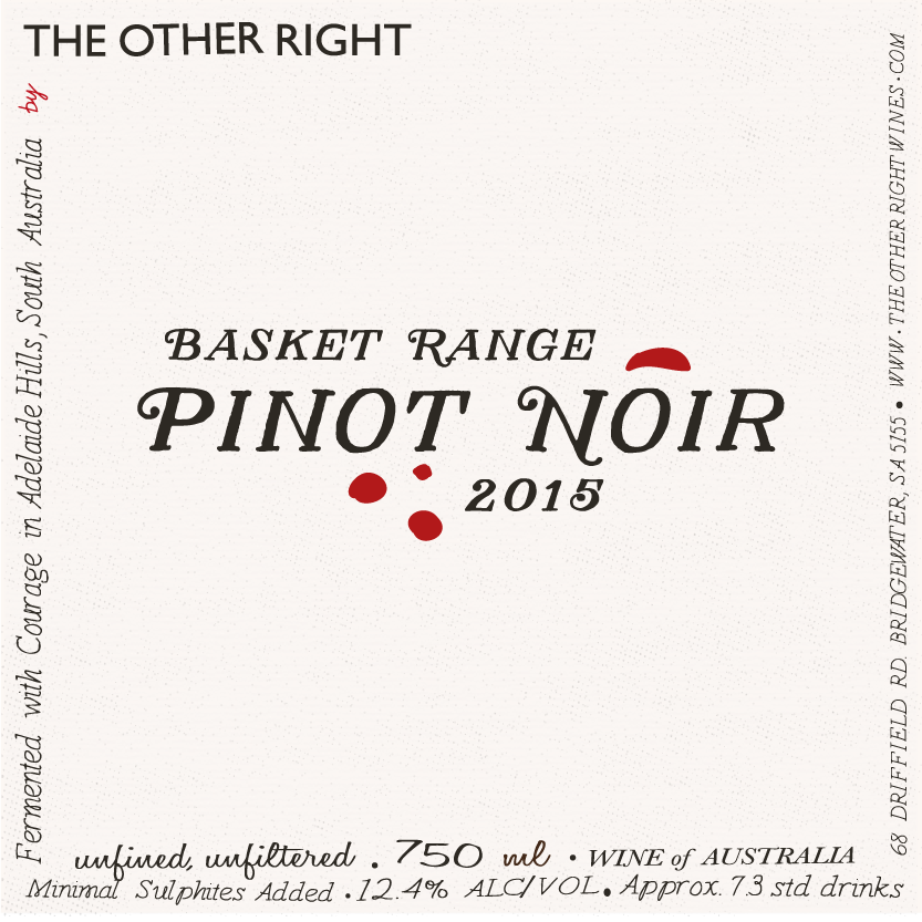 The Other Right Wines - Basket Range Pinot Noir
