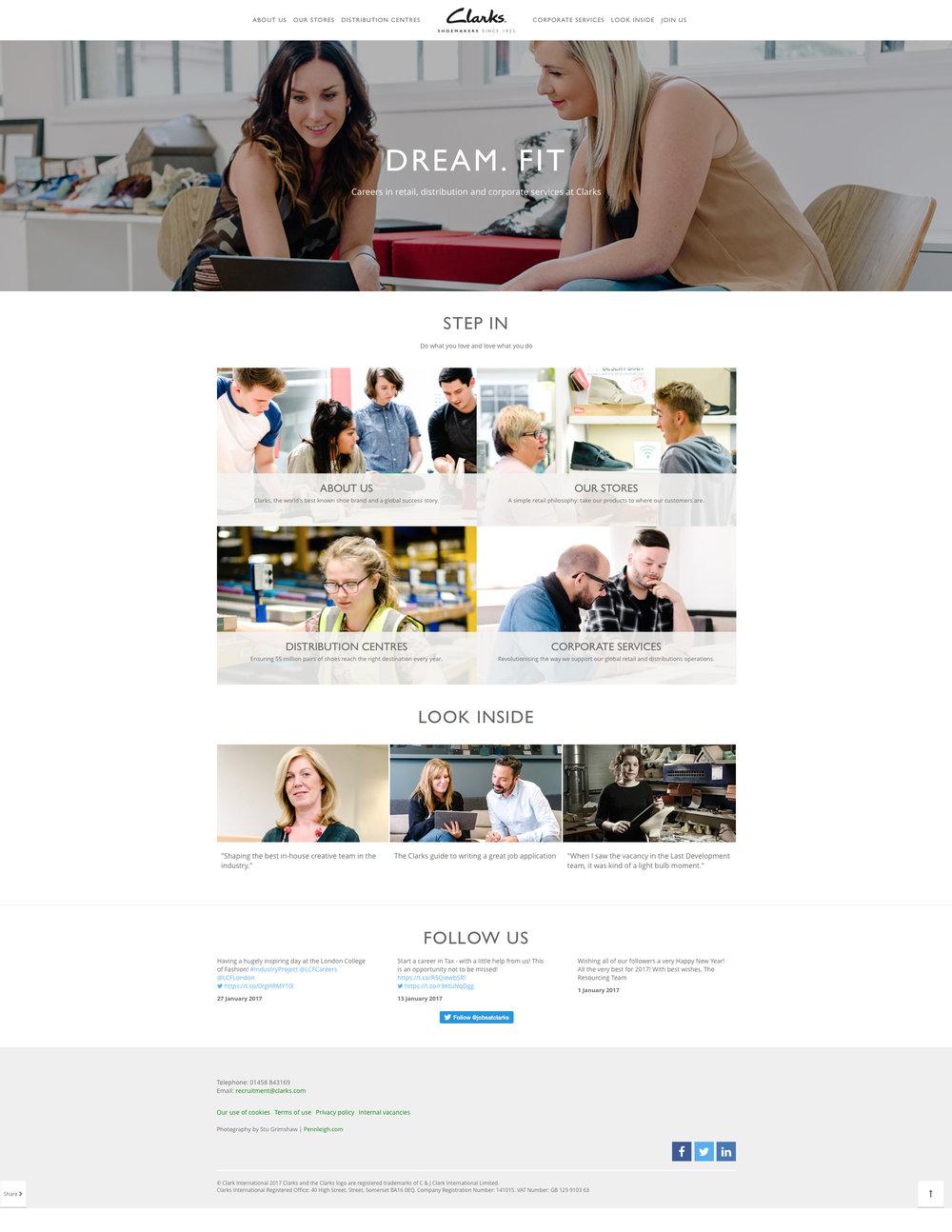 Clarks Shoes Careers Website