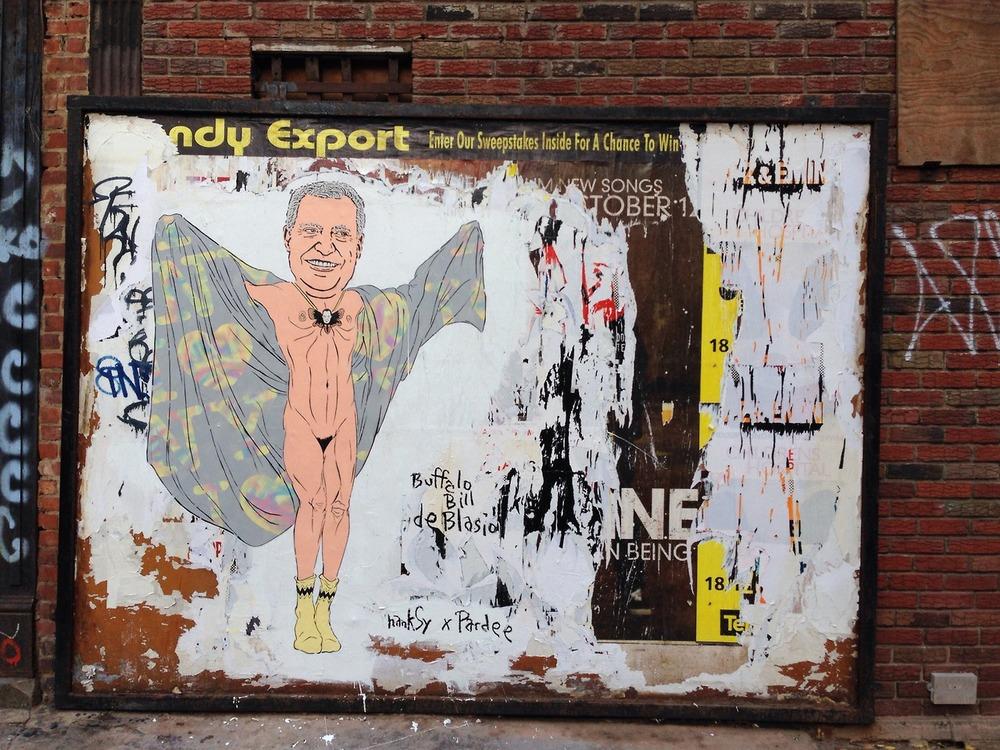 Buffalo Bill De Blasio x Alex Pardee, Chinatown, NYC