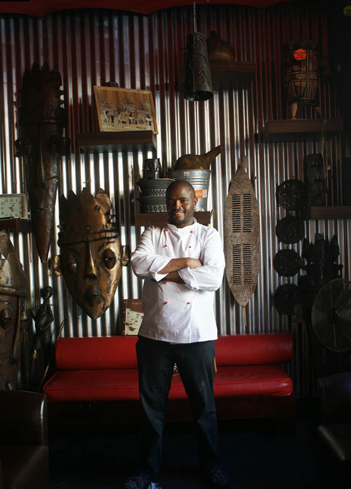Chef Stanley Ngcongo at Nyoni, Cape Town