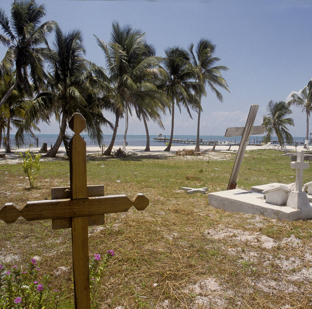 Cementery with sea view