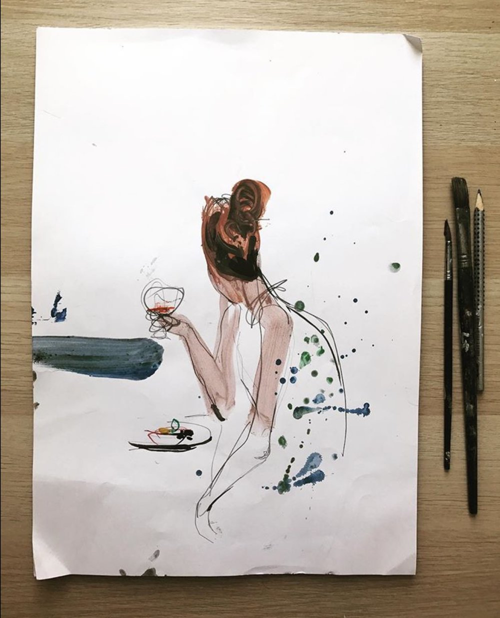 Aperitivo time. See more sketches  here